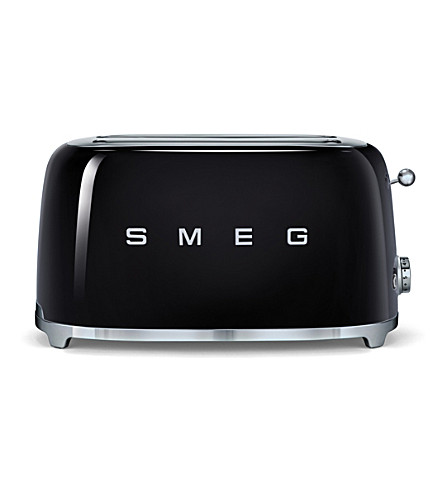 SMEG Smeg black 4-slice toaster (Black