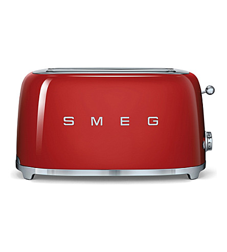 SMEG Smeg red 4-slice toaster
