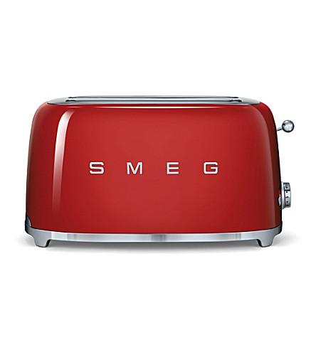 SMEG Smeg red 4-slice toaster (Red