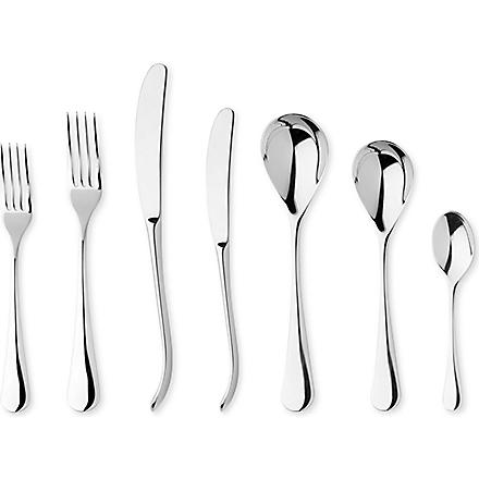 ROBERT WELCH Ashbury mirrored stainless steel seven-piece cutlery set
