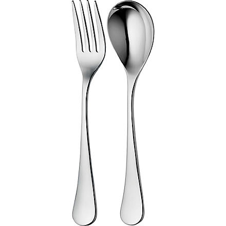 ROBERT WELCH Ashbury mirrored stainless steel three-piece serving set