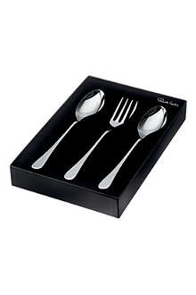 ROBERT WELCH Iona mirrored stainless steel three-piece serving set