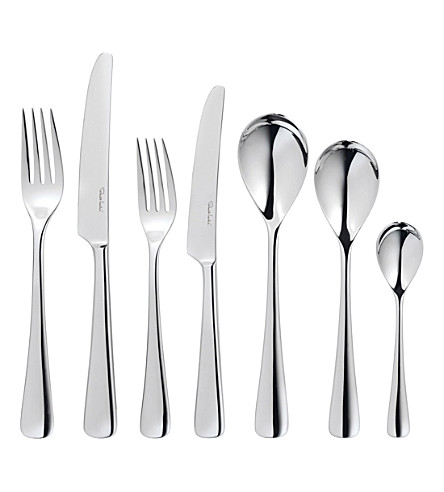 ROBERT WELCH Malvern 42-piece mirrored stainless steel cutlery set
