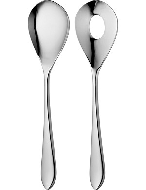 ROBERT WELCH Norton mirrored salad servers