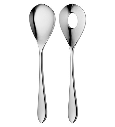 ROBERT WELCH Norton stainless steel salad servers