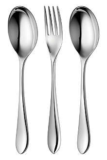 ROBERT WELCH Norton mirrored stainless steel three-piece serving set