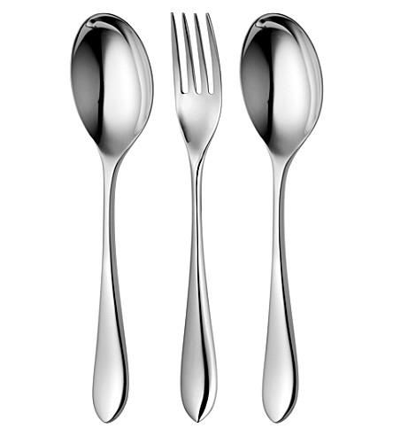 ROBERT WELCH Norton mirrored stainless steel three-piece serving set