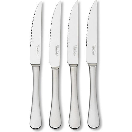 ROBERT WELCH Radford satin stainless steel four-piece steak knife set