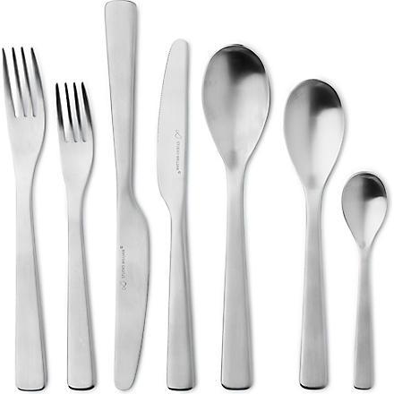 STUDIO WILLIAM Baobab satin stainless steel 42-piece cutlery set