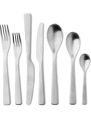 STUDIO WILLIAM Baobab satin stainless steel 56-piece cutlery set