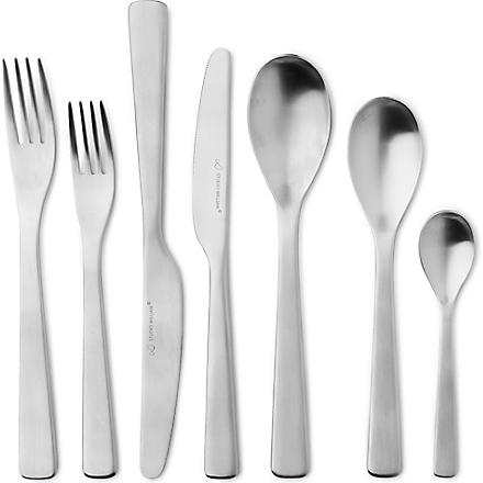 STUDIO WILLIAM Baobab satin stainless steel 56-piece cutlery set