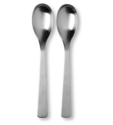 STUDIO WILLIAM Baobab satin two-piece serving spoon set