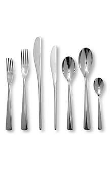 STUDIO WILLIAM Karri mirrored stainless steel 42-piece cutlery set
