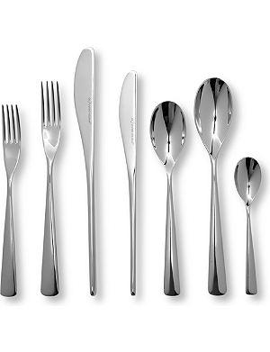 STUDIO WILLIAM Karri mirrored stainless steel 42-piece cutlery set