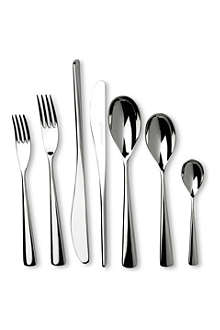 STUDIO WILLIAM Karri mirrored stainless steel 56-piece cutlery set