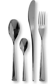 STUDIO WILLIAM Karri mirrored stainless steel 16-piece cutlery set