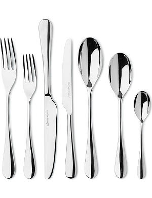 STUDIO WILLIAM Mulberry mirrored stainless steel 56-piece cutlery set