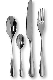 STUDIO WILLIAM Mulberry mirrored stainless steel 16-piece cutlery set