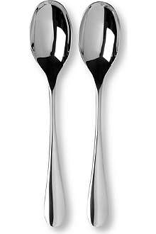 STUDIO WILLIAM Mulberry mirror two-piece serving spoon set