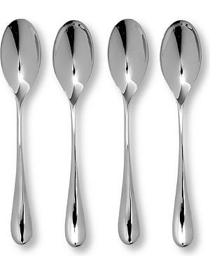 STUDIO WILLIAM Mulberry mirrored stainless steel eight-piece espresso set