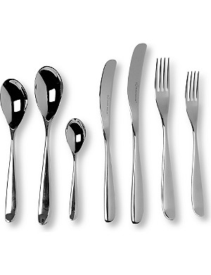 STUDIO WILLIAM Olive mirrored stainless steel 42-piece cutlery set