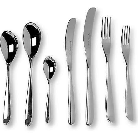 STUDIO WILLIAM Olive mirrored stainless steel 42-piece cutlery set