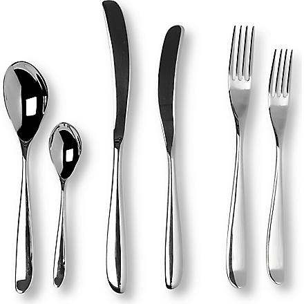STUDIO WILLIAM Olive mirrored stainless steel 56-piece cutlery set