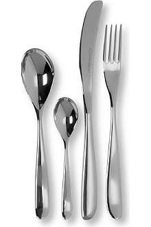 STUDIO WILLIAM Olive mirrored stainless steel 16-piece cutlery set