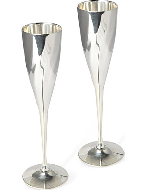 CULINARY CONCEPTS Pair of Cambridge champagne goblets