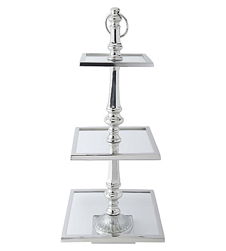 CULINARY CONCEPTS Square three-tier cake stand