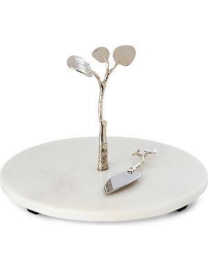 MICHAEL ARAM Botanical Leaf cheese board and knife set