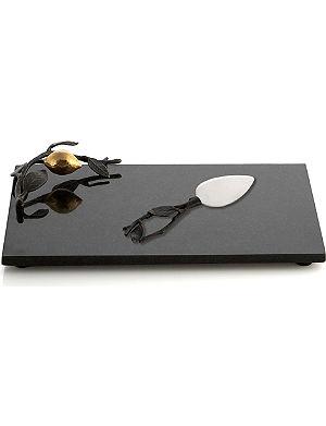 MICHAEL ARAM Lemonwood cheese board and knife set