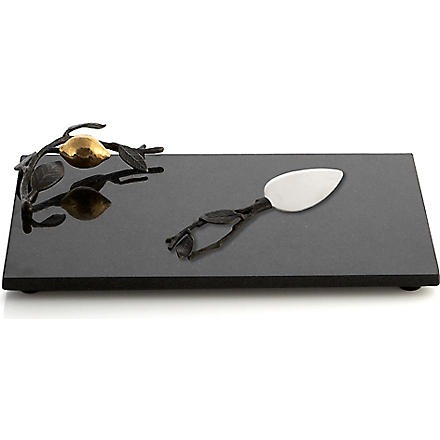 MICHAEL ARAM Lemonwood cheese board and knife set
