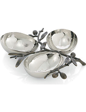 MICHAEL ARAM Olive Branch triple compartment dish