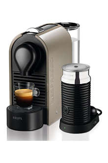 NESPRESSO U Krups Nespresso coffee machine + Aeroccino3 milk frother