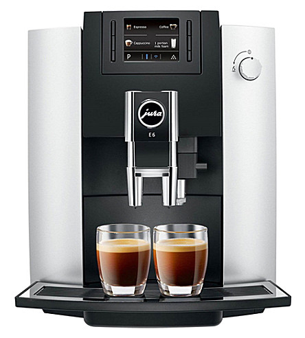 JURA E6 automatic platinum coffee machine