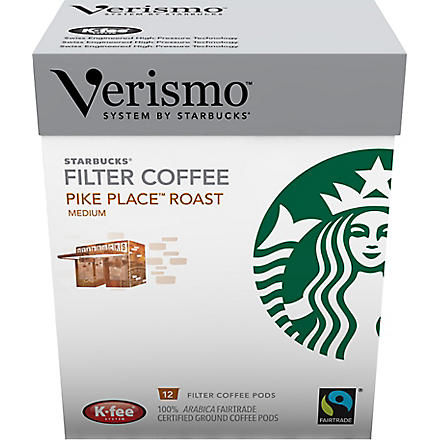 STARBUCKS Verismo™ Pike Place® roast brewed coffee pods