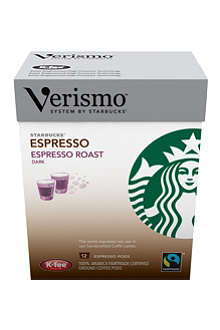 STARBUCKS Verismo™ Espresso Roast Fairtrade espresso pods