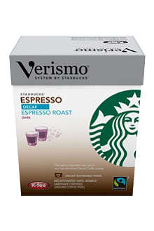 STARBUCKS Verismo™ Decaf Espresso Roast Fairtrade espresso pods