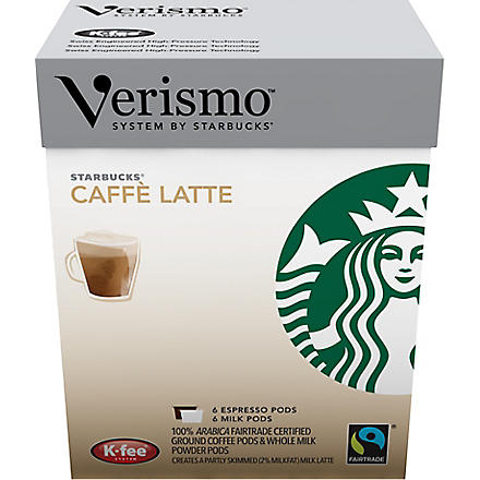 STARBUCKS Verismo™ Caffè Latte Fairtrade pods