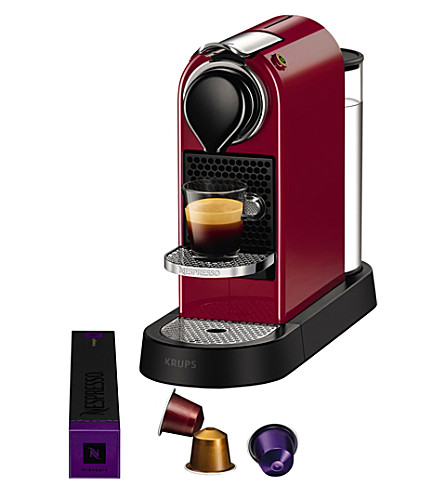 NESPRESSO Krups Citiz & milk red coffee machine