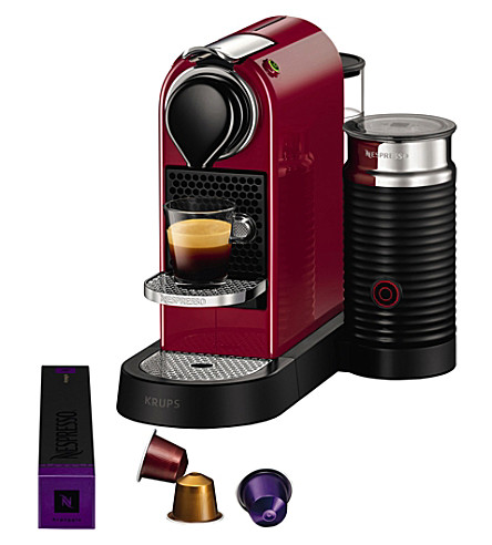 NESPRESSO Krups Citiz & milk coffee machine bundle