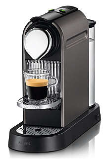 NESPRESSO Krups Nespresso Citiz coffee machine titanium