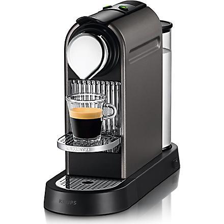 NESPRESSO Krups Nespresso Citiz coffee machine titanium (Titanium