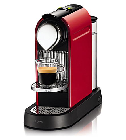 NESPRESSO Krups Nespresso Citiz coffee machine (Red