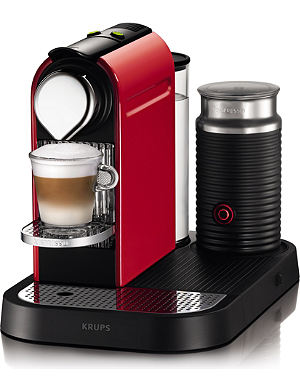 NESPRESSO Krups Nespresso Citiz coffee and milk machine red