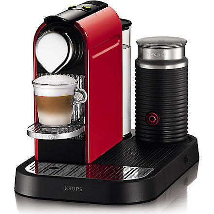 NESPRESSO Krups Nespresso Citiz coffee and milk machine red (Red