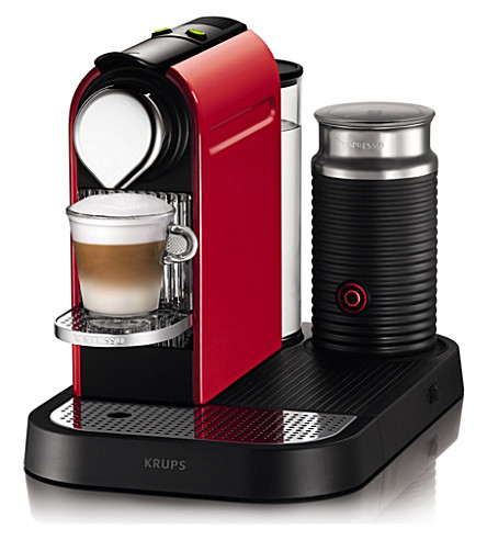 NESPRESSO Magimix Krups Nespresso Citiz coffee and milk machine red (Red