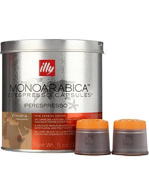 ILLY Ethiopia Monoarabica espresso capsules 140g