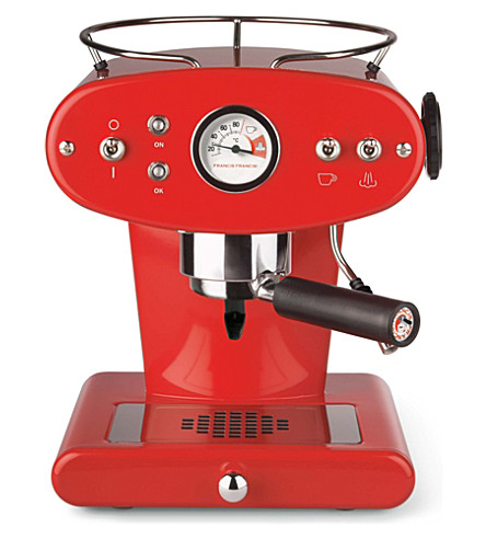 ILLY illy X1 for Ground Coffee espresso machine (Red